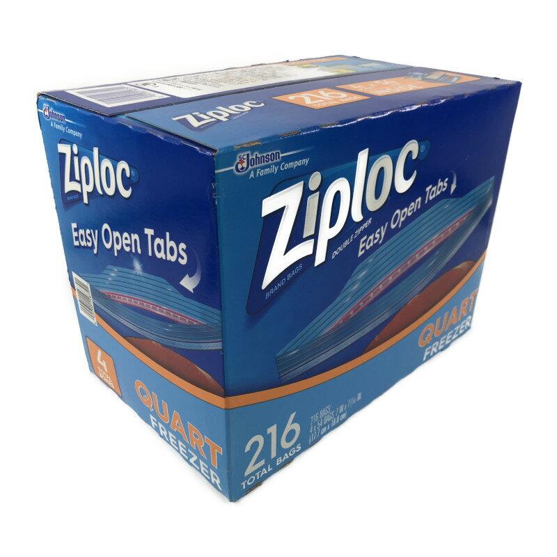 Ziploc ジップロック ダブルジッパー 冷凍用 216枚