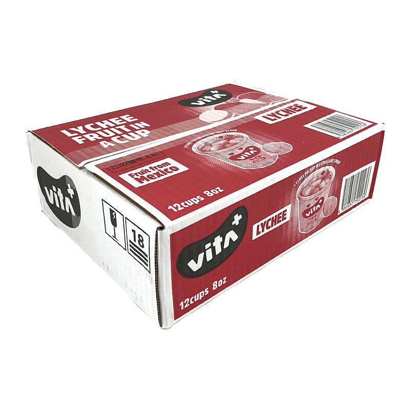 vita+ ライチ フルーツカップ 12カップ入り ALTEX vita+ Lychee 12cups
