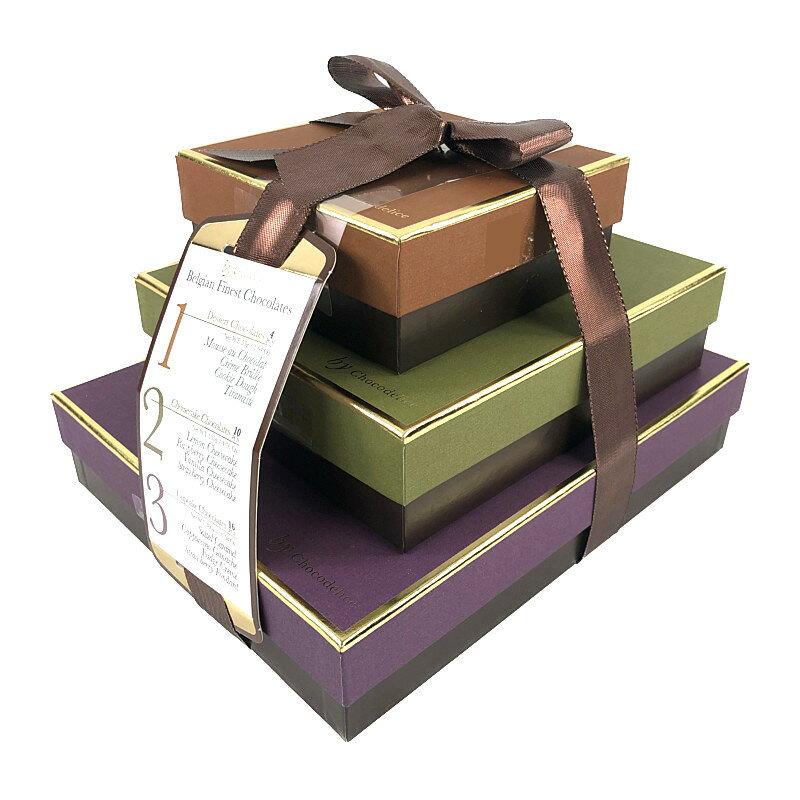 チョコデリス ベルギーチョコレートボックス 490g Chocodelice 3 Tier Belgian Finest Chocolates